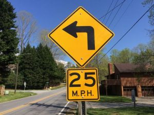 Yellow Speed Signs